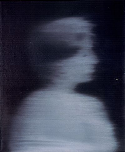 Gerhard Richter-Frauenkopf im Profil (Women's Head in Profile)-1966