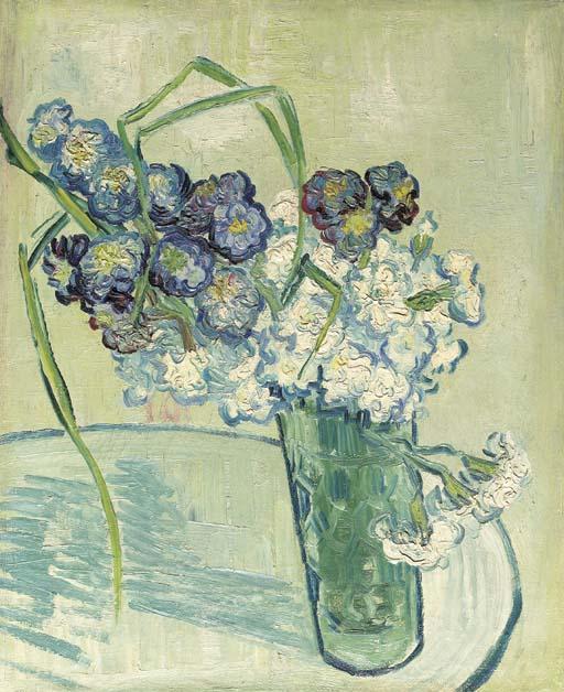 Vincent van Gogh-Nature morte, vase avec oeillets-1890