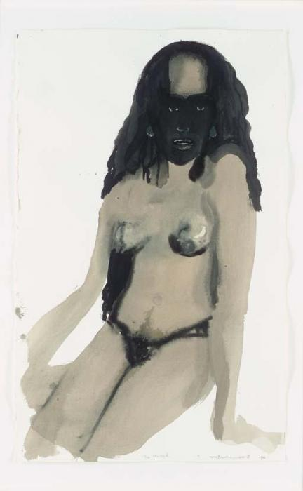 Marlene Dumas-The Navel-1996