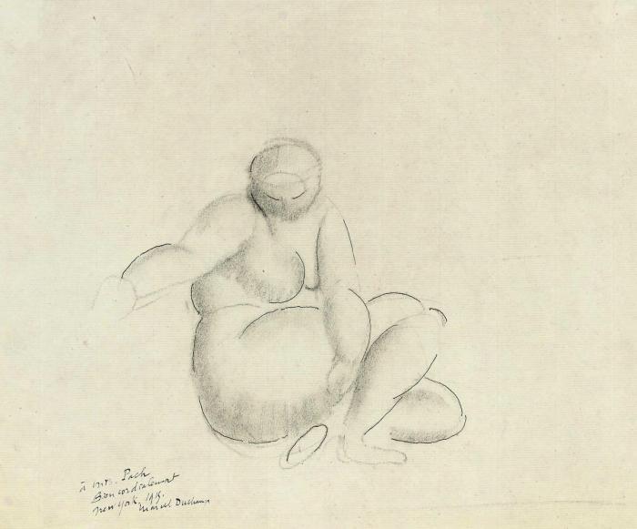 Marcel Duchamp-Femme nue assise-1911