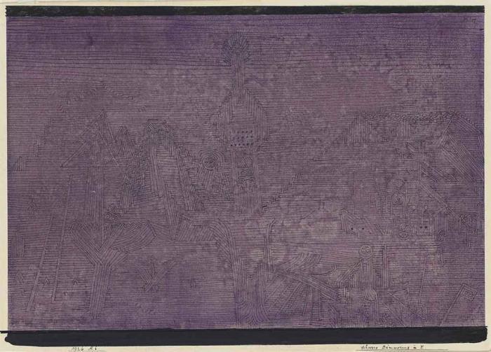 Paul Klee-Schwere Dammerung in X.-1926