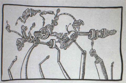 Keith Haring-Keith Haring - Machine-1987