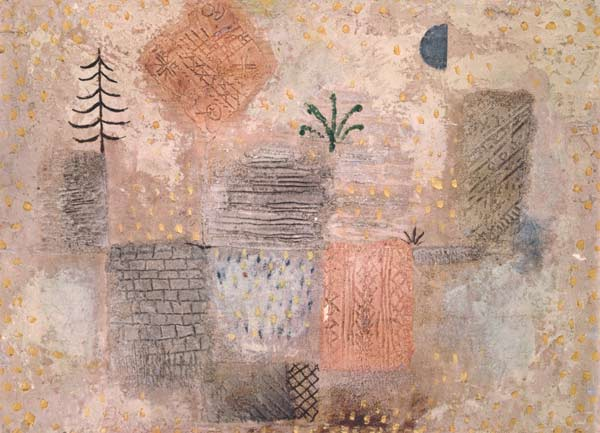 Paul Klee-Park Mit Dem Kuhlen Halbmond-1926