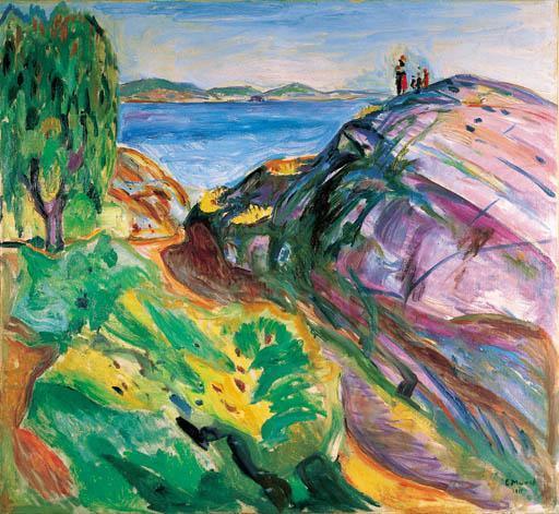 Edvard Munch-Sommer ved Kysten, Krager-1911
