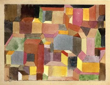 Paul Klee-Mittelalterliche Stadt-1915