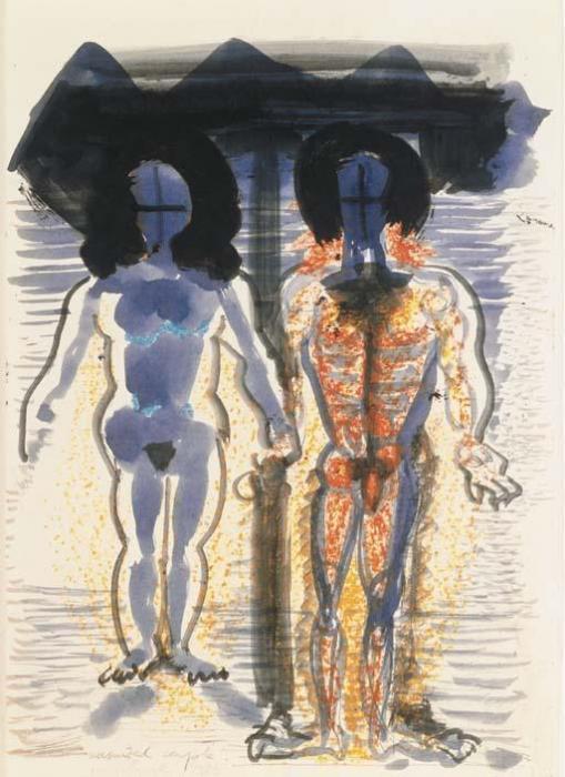 Marlene Dumas-Unsuited Couple-1985
