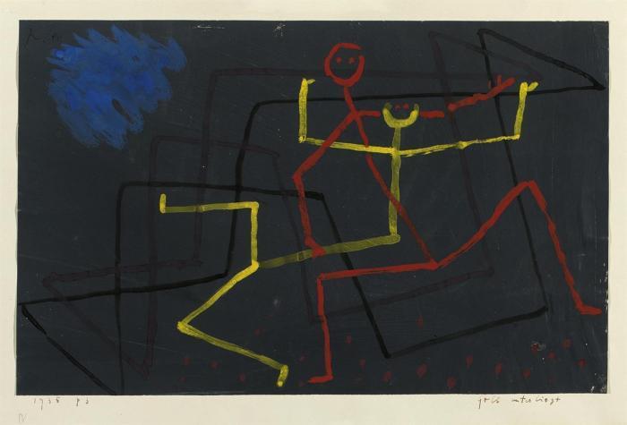 Paul Klee-Gelb Unterliegt-1935