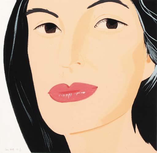 Alex Katz-Ada / Portrait of a Woman-