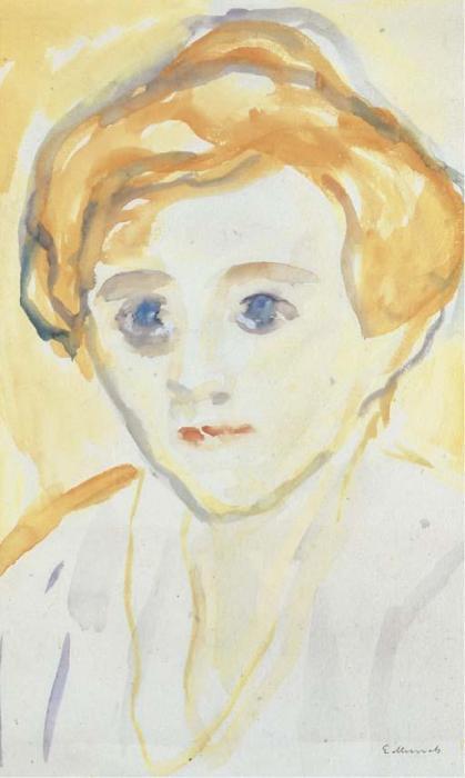 Edvard Munch-Portrait of a Woman-1930