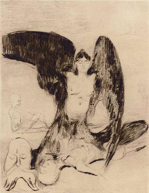 Edvard Munch-Harpy / Vampyr (Sch. 4 W. 4)-1894