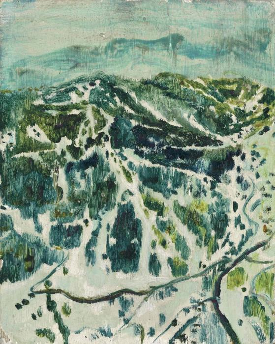 Peter Doig-Ski-Mountain-1995