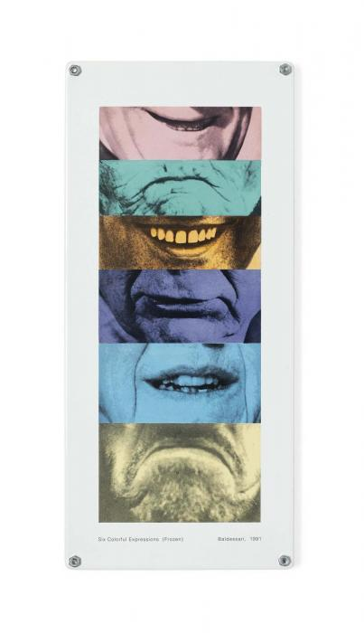 John Baldessari-Six Colourful Expressions (Frozen) (Parkett 29)-1991