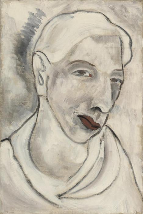 Leonora Carrington-Portrait Of A Man; Seated Female Nude-