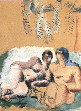 Le Corbusier-Couple de femmes-