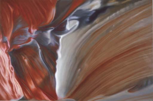 Gerhard Richter-Ausschnitt (Rot-Blau)-1970