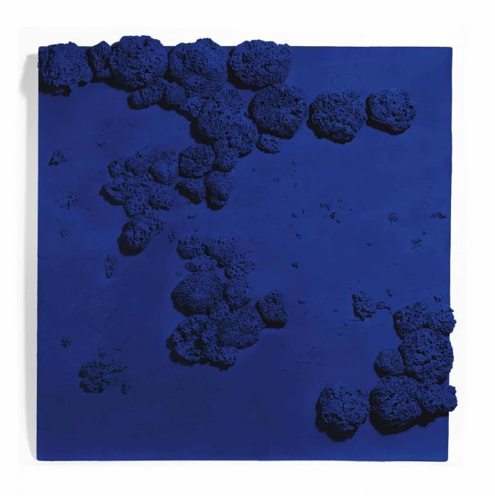 Yves Klein-Relief eponge bleu (RE 51)-1959
