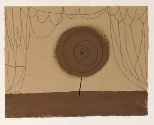 Paul Klee-Eine Blume Tritt Auf-1934