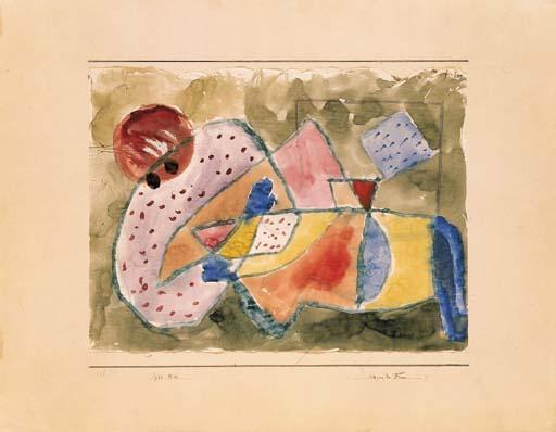 Paul Klee-Liegende Frau-1933