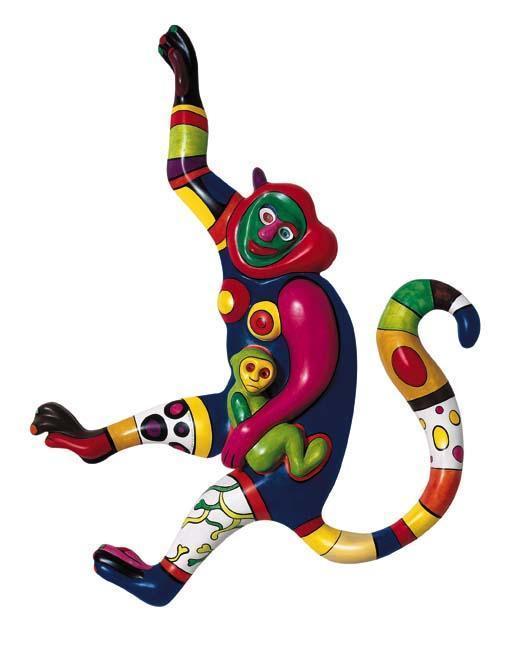 Niki de Saint Phalle-Monkey and Child-1998