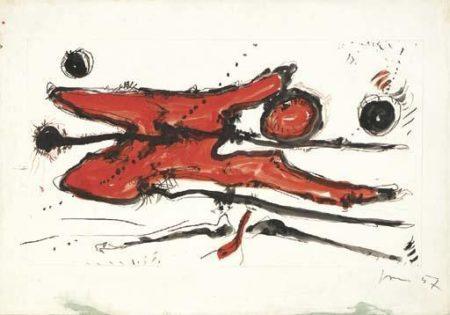 Lucio Fontana-Untitled-1957