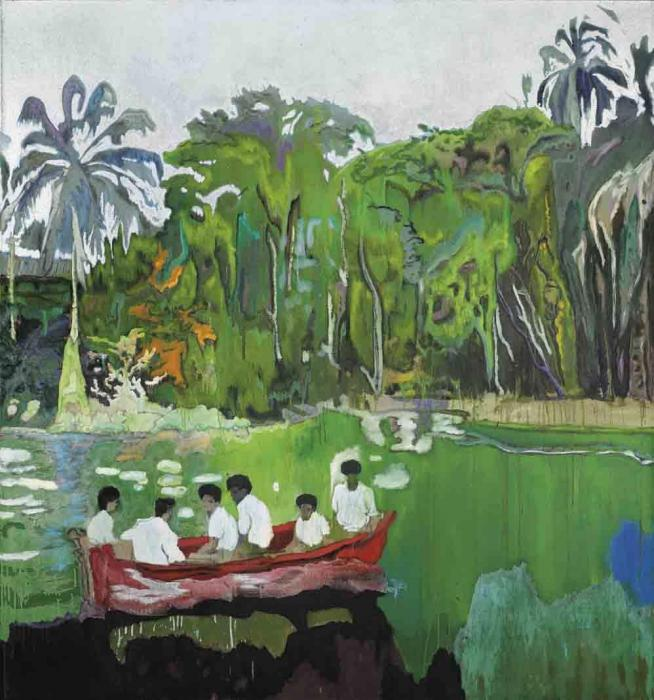 Peter Doig-Red Boat (Imaginary Boys)-2004