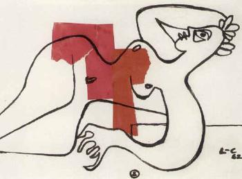 Le Corbusier-Nu allonge-1962