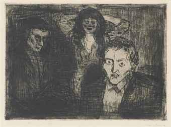 Edvard Munch-Eifersucht (Sch. 395; W. 471)-1914