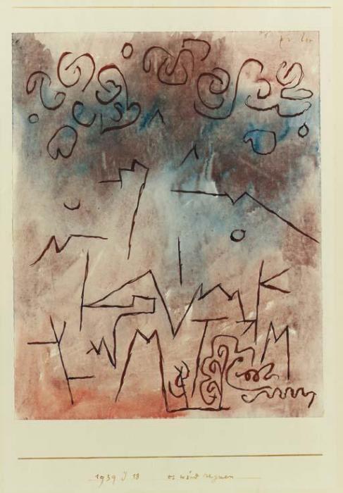 Paul Klee-Es Wird Regnen-1939