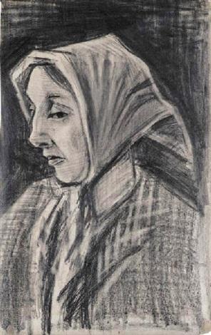 Vincent van Gogh-Sien : facing left-1883