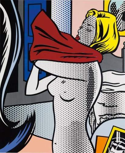 Roy Lichtenstein-Collage for nude with red shirt-1995