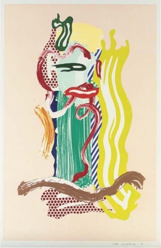 Roy Lichtenstein-Portrait, From Brushstroke Figure Series-1989