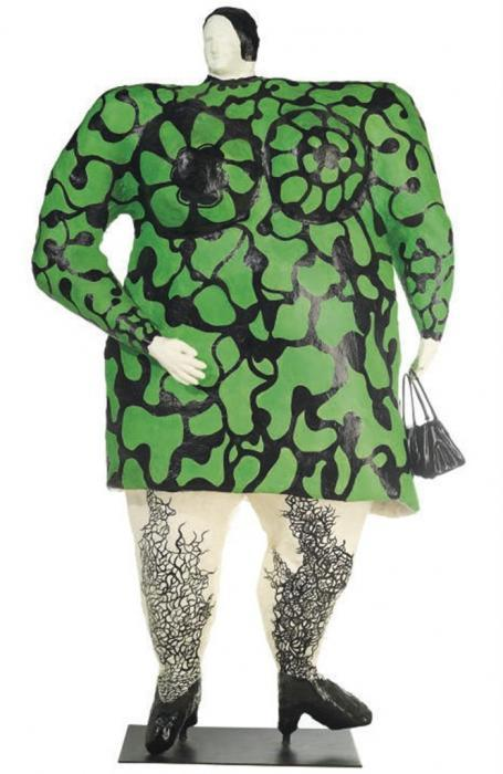 Niki de Saint Phalle-Nana verte a sac noir-1968
