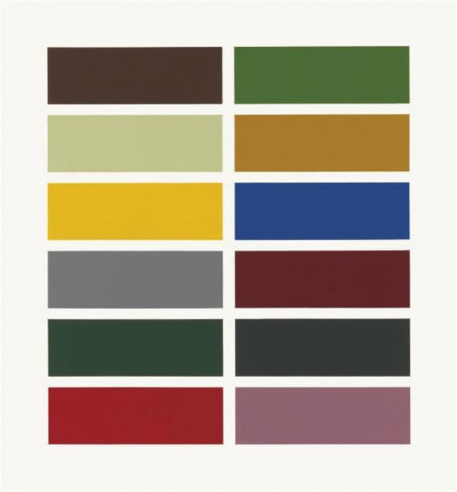 Gerhard Richter-12 Farben (12 Colours)-1978