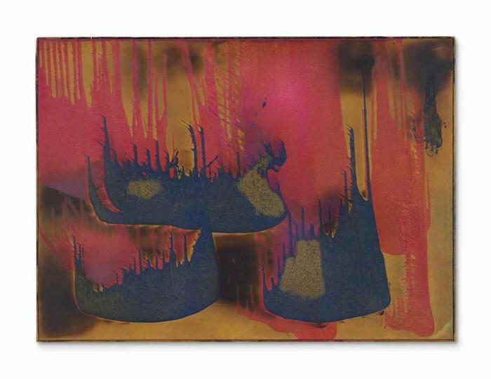 Yves Klein-Peinture de feu couleur sans titre, (FC 27)-1962