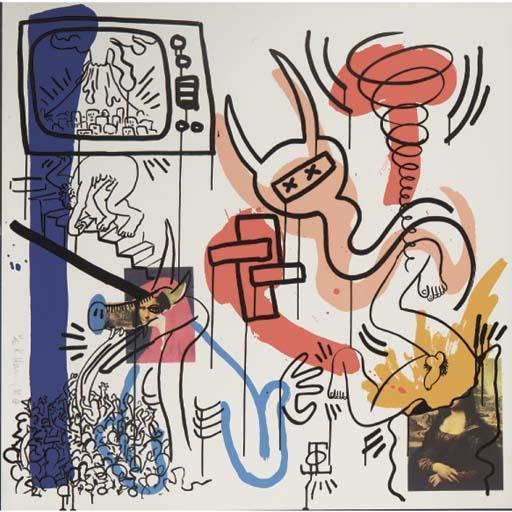 Keith Haring-Keith Haring - One plate, from Apocalypse-1988