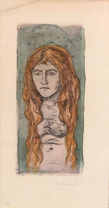 Edvard Munch-Oberkrper Eines Nackten Madchens (Sch. 47; W. 39)-1896