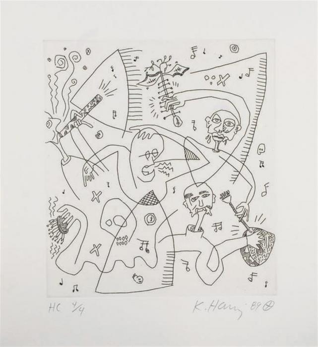 Keith Haring-Keith Haring - William S. Burroughs-1989