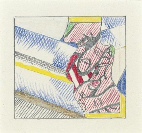 Roy Lichtenstein-Drawing for Reflections on the Gift-1990