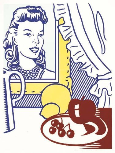 Roy Lichtenstein-Still Life with Portrait-1974