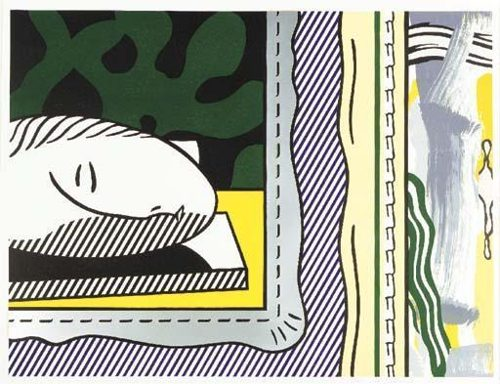 Roy Lichtenstein-Sleeping Muse-1984