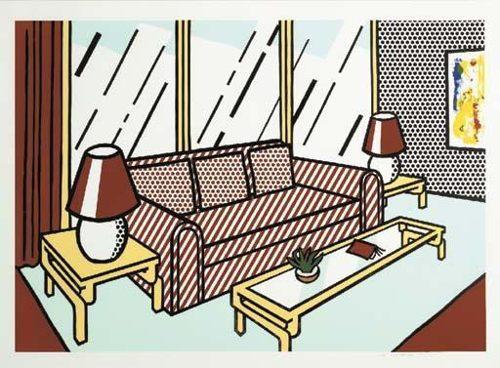 Roy Lichtenstein-Red Lamps-1991