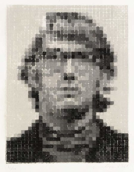 Chuck Close-Keith II (White)-1981
