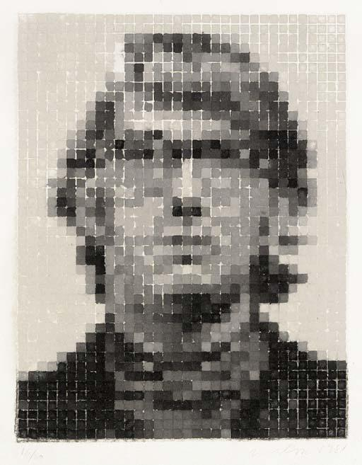 Chuck Close-Keith II (White)-1981