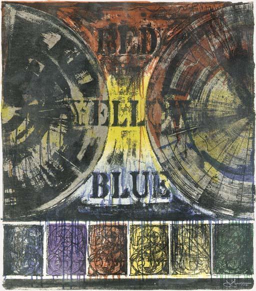 Jasper Johns-Untitled (ULAE 206)-1980