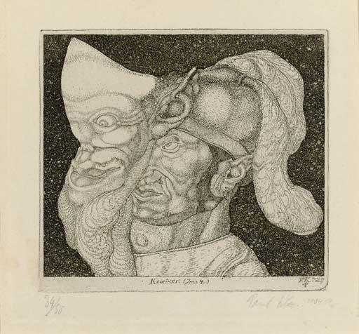 Paul Klee-Komiker - Invention 4-1904