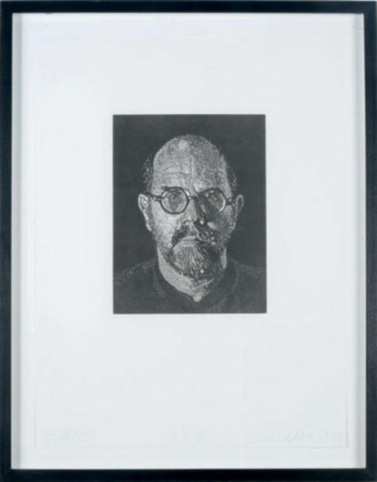 Chuck Close-Self-Portrait III-1994