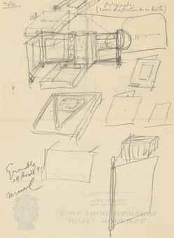 Marcel Duchamp-Etude pour la Boite-en-valise de Henri-Pierre Roche-1941