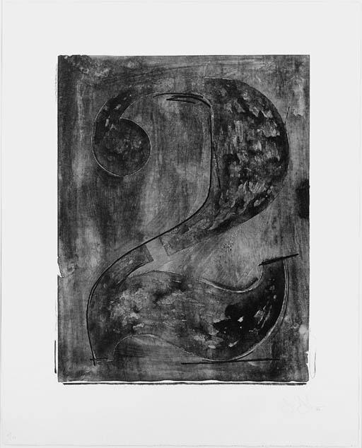Jasper Johns-Figure 2, from Black Numeral Series (ULAE 46; Gemini 89)-1968