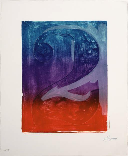 Jasper Johns-Figure 2, from Color Numeral Series (ULAE 61; G. 118)-1969