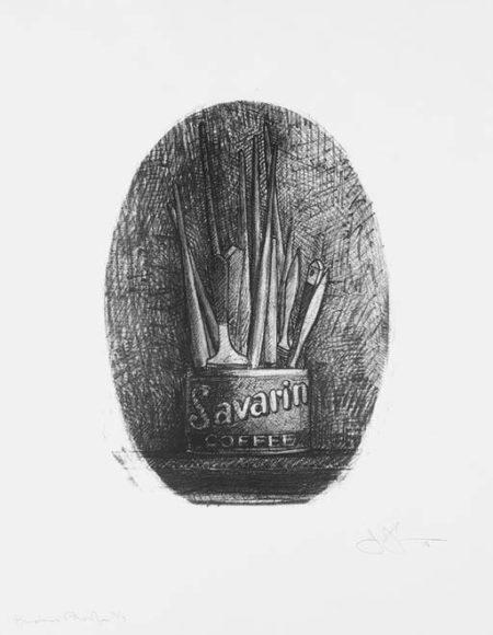 Jasper Johns-Savarin 4 (Oval) (ULAE 194)-1978